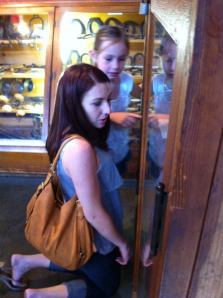 Discovering fossils at Knotts
