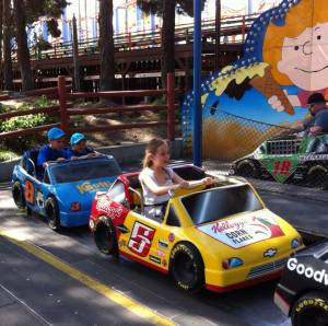 Lily and her race car