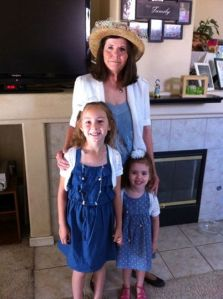 Fawn, Lily, and Olivia all ready for church, Easter 2014