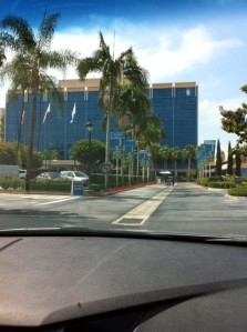 Pulling into the Disneyland Hotel