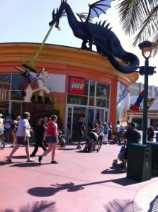 The wonderful dragon made of Legos.