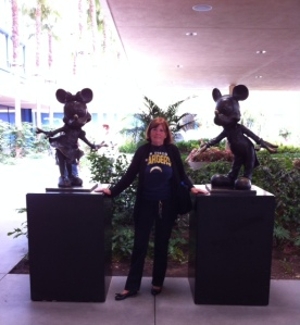 "Saying ""goodbye"" to Mickey and Minnie...in my only clean shirt!"