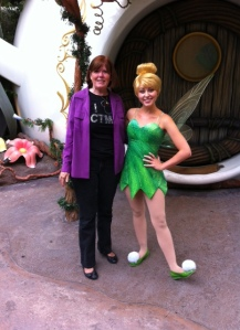 Meeting Tinkerbell in Pixie Hollow