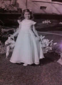 Fawn as Lenita Wood's Flower Girl, March 1954