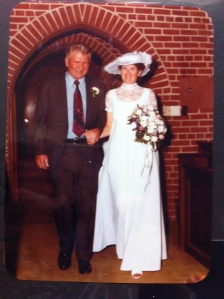 Daddy walking me down the aisle, June 13, 1981.
