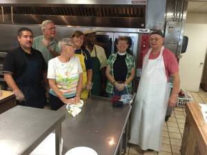 Our kitchen crew at The Bethlehem Center (Both photographs courtesy of Bishop Rice.)