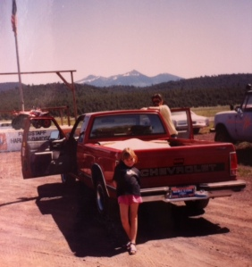 When my S-10 was two weeks old, Donnie, Georgia and I drove to Holbrook, AZ, for the Pender Family Reunion.  She didn't even have real plates yet!
