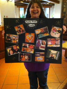 """Devo the """"Pasta Pass Lady"""" and her Collage"""