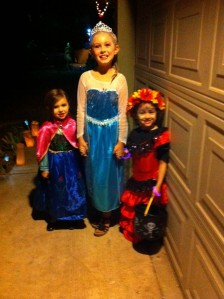 Olivia, Lily, and Kora, heading out!