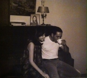 Kicking back with Jack at home, c. 1968.