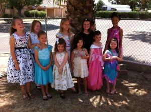 All the lovely young ladies in their tea party best.