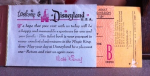 The front of the Disneyland admission pack.