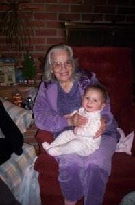 Lily with Great Grammy Pender