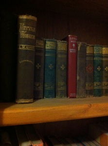 Early editions of Louisa's books.