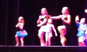 """Shake it Off"" -- her tap routine (Lily is second from left)."