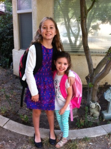 All dressed up and ready for fourth grade and Kindergarten.  How quickly time flies!