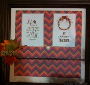 Georgia used this wonderful chevron paper from Close To My Heart's Sangria paper packet as part of her autumn decor.