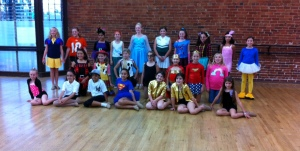 Such a wide range of costume ideas from these 4th and 5th grade dancers.  Lily is fourth from the left in the back row.