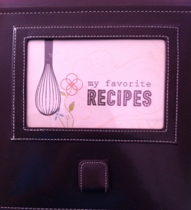 This recipe book from Creative Memories is filled with special treats from family members and friends.