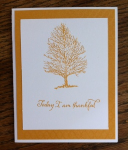 Thanksgiving card created for Second Saturday Scrapping workshop last weekend.